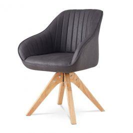 Sconto Jídelní židle CHIP šedá syntetická kůže/kaučukovník