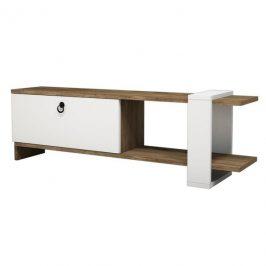 Sconto TV stolek GAYE ořech/bílá