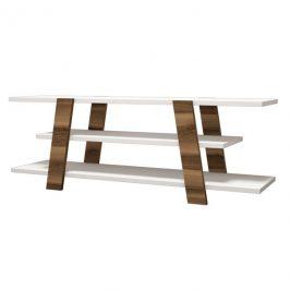 Sconto TV stolek FLOWER ořech/bílá