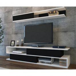 Sconto TV sestava SIMS bílá/černá