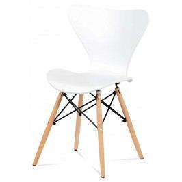 Sconto Jídelní židle DARINA buk/bílá