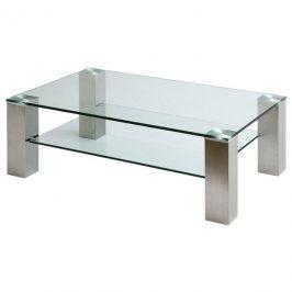 Sconto Konferenční stolek AIDAN II sklo/ocel