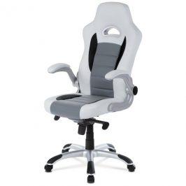 Sconto Kancelářská židle ESTER bílá/šedá