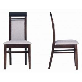 Sconto Jídelní židle MALLORCA FR13 ořech tmavý/dub miláno