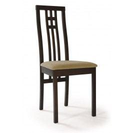 Sconto Jídelní židle AMANDA ořech/béžová