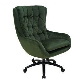 Sconto Kancelářské křeslo ELLA tmavě zelená