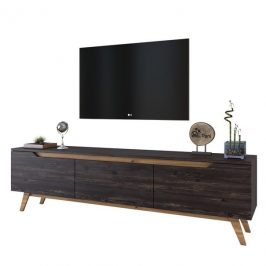 Sconto TV stolek QUINN tmavý ořech