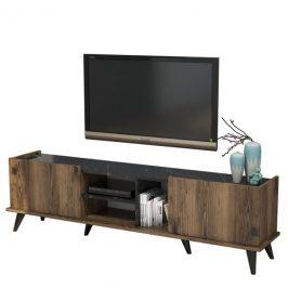 Sconto TV stolek ELEGANTE ořech/černá