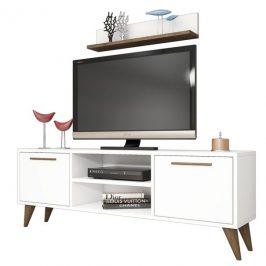 Sconto TV sestava SENFONI bílá/ořech