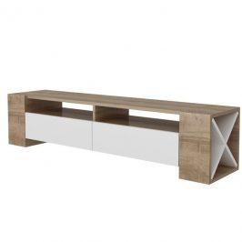 Sconto TV stolek SOSRUKO ořech/bílá