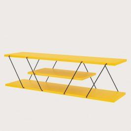 Sconto TV stolek CANAZ žlutá/černá