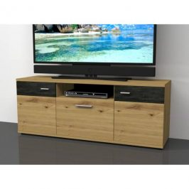 Sconto TV komoda NICOLAS dub artisan, výška 59 cm