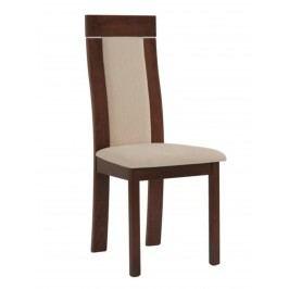 Sconto Jídelní židle ELENA ořech/béžová