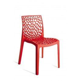 Sconto Jídelní židle GRUVYER červená