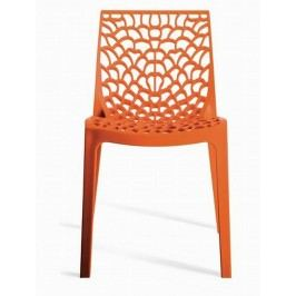 Sconto Jídelní židle GRUVYER oranžová