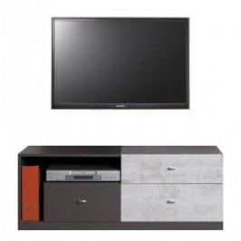 Tablo - TV stolek, 3x zásuvka (grafit/enigma) Stolky pod TV