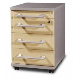 GW-Profi-Kontejner,4 zásuvky (javor/stříbrná) Kontejnery do kanceláře