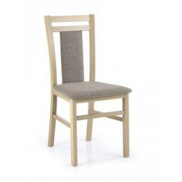 Jídelní židle Hubert 8 šedá, dub
