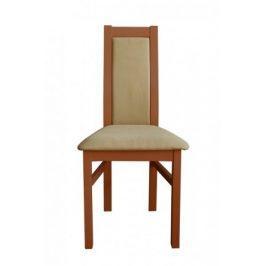 Jídelní židle Agáta střední ořech, krémová