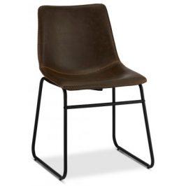 Jídelní židle Guaro tmavě hnědá, černá