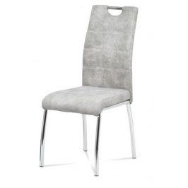 Jídelní židle Gasela stříbrná/chrom