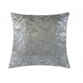 Polštář DP153 (45x45 cm, tmavě šedá, stříbrná) Polštáře