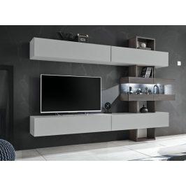Obývací stěna Naduk (dub grafit, perla gray) Obývací stěny