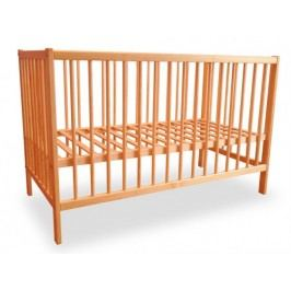 Dětská postýlka, dřevěná, 120x60x80 cm (borovice)