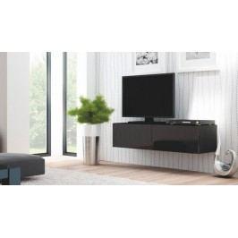 Livo - TV stolek 160 závěsný (černá mat/černá lesk)