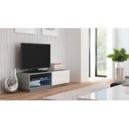 Livo - TV stolek 120 stojící (šedá mat/bílá lesk)