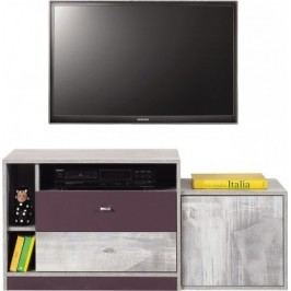 Zoom - TV stolek ZM8 (antic, fialová)
