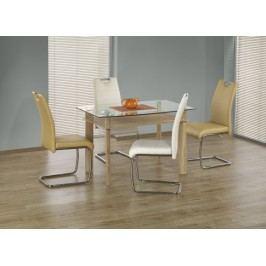 Murano - Jídelní stůl 120x80 cm (dub sonoma, čiré sklo)