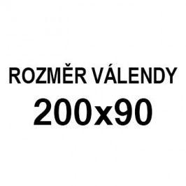 Athos - roh pravý, 200x90 (paris 25, korpus, bok/paris 16, lem)
