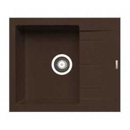 Alazia - Granitový dřez 59x50, hnědá