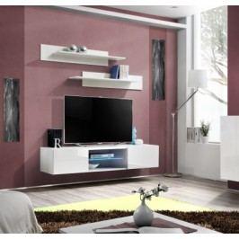Fly - RTV, 1x dveře, 1x police, LED (bílý mat/bílý lesk)