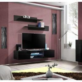 Fly - RTV, 1x dveře, 1x police, LED (černý mat/černý lesk)