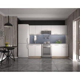 Kuchyně Daria - 240 cm (bílá/dub sonoma)