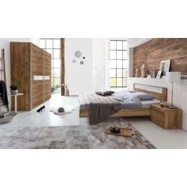 Pamela - Komplet postel 160,skříň 225cm,stolky (tmavý dub)