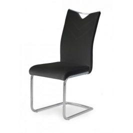 Jídelní židle K224 (černá, stříbrná)