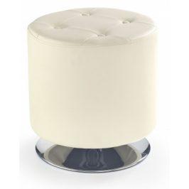 Taburet Dora kruh krémová Taburety do obýváku