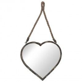 Nástěnné zrcadlo v dekoru srdce (33*32 cm)