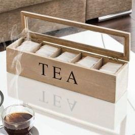 Retro dřevěná krabička na Čaj