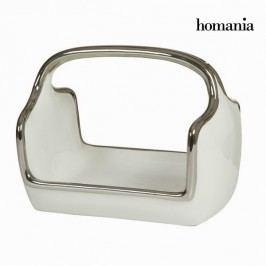 Dekorativní mísa košík, stříbrná-bílá by homania