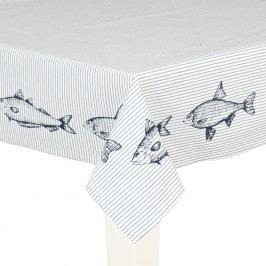 Bavlněný ubrus s rybářským dekorem  (100x100 cm)