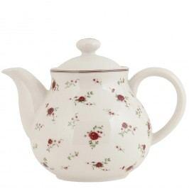 Keramická čajová konvice ve venkovském stylu