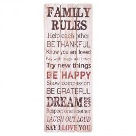 Nástěnný dekorativní citát Family Rules