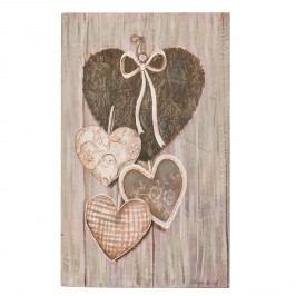 Nástěnná malba srdcí
