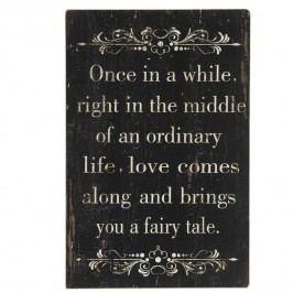 Nástěnný dekorativní citát Once