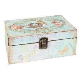 Dřevěná krabička s dekorem