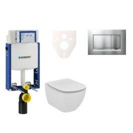 Závěsný set WC Ideal Standard Tesi + modul Geberit Kombifix s tlačítkem Sigma 30 (chrom mat/lesk) 110.302.00.5 NF7